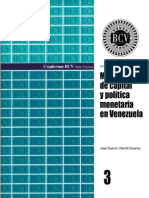 Movilidad de Capital y Politica Monetaria Venezuela