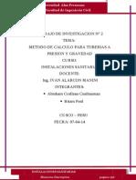 Metodologia de Calculo Para Tuberias a Presion Y Gravedad