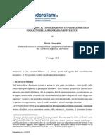 DALL'INCENTIVAZIONE AL CONSOLIDAMENTO- UN POSSIBILE PERCORSO  NORMATIVO DELLA DEMOCRAZIA PARTECIPATIVA- cincaglini