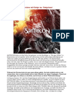 Interview Mit Satyr Zu Satyricon
