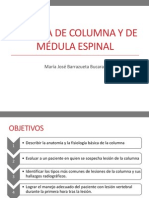 Trauma de columna y de médula espinal