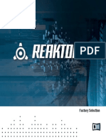Reaktor Factory Selection Manual English