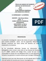 Relaciones Del Derecho Comercial Diapositivas II