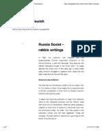Russia Soviet – rabbis writings | Fascinating Jewish history///
