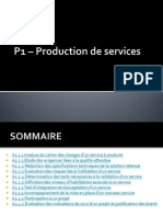 P1 – Production de services