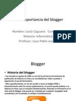 La Importancia Del Blogger