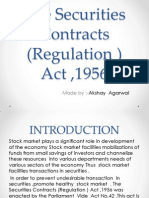 Presentation on BankingThe Securities Contracts(Regulation ) Act ,1956