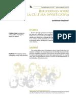 3 Reflexiones Sobre La Cultura Investigativa