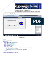 Input, Update, Seach & Delete pada VB.Net
