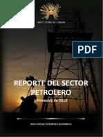 Reporte Del Sector Petrolero 2013