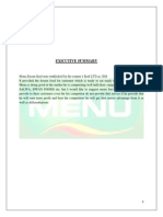 Menu Strategic Management project