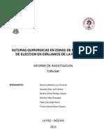 Suturas Quirurgicas en Zonas de Baja Tension de Eleccion en Cirujanos de La Paz