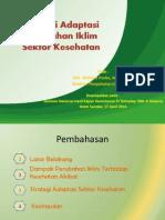 Rencana Strategi Aksi - Adaptasi Perubahan Iklim Seminar Hasil