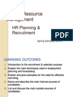 HRM Spring Semester 2014 - Lecture 3 (HR Planning)