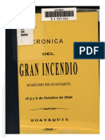 Cronica Del Gran Incendio de Guayaquil Francisco Campos 1896