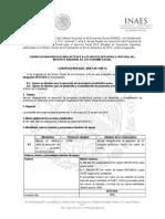 Convocatoria INAES INT 008 14