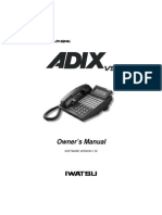 Iwatsu Adix vs R1.3 Owners Manual