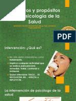 Objetivos y propósitos de la atención-intervención Psicología de la Salud_Abril 2014