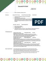 resume updated 2013 education