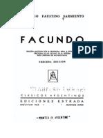 SARMIENTO, Domingo F. (1845) Facundo «Introducción»