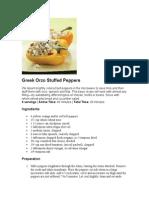 Greek Orzo Stuffed Peppers
