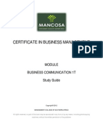CIBM Business Communication Jan 2012