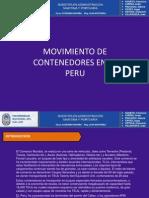 Movimiento de Contenedores en El Peru