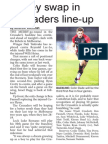 Jersey Swap in Crusaders Line-up (The Star, March 14, 2014
