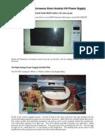 Microwave Oven Inverter HV Power Supply