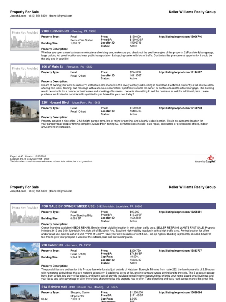 Berks Retail Nov09 | Real Property | Retail