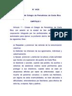 4420 Ley Organica Del Colegio de Periodistas