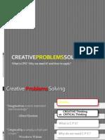Creative Problems Solving - ToOLS & TECHNIQUES (a)