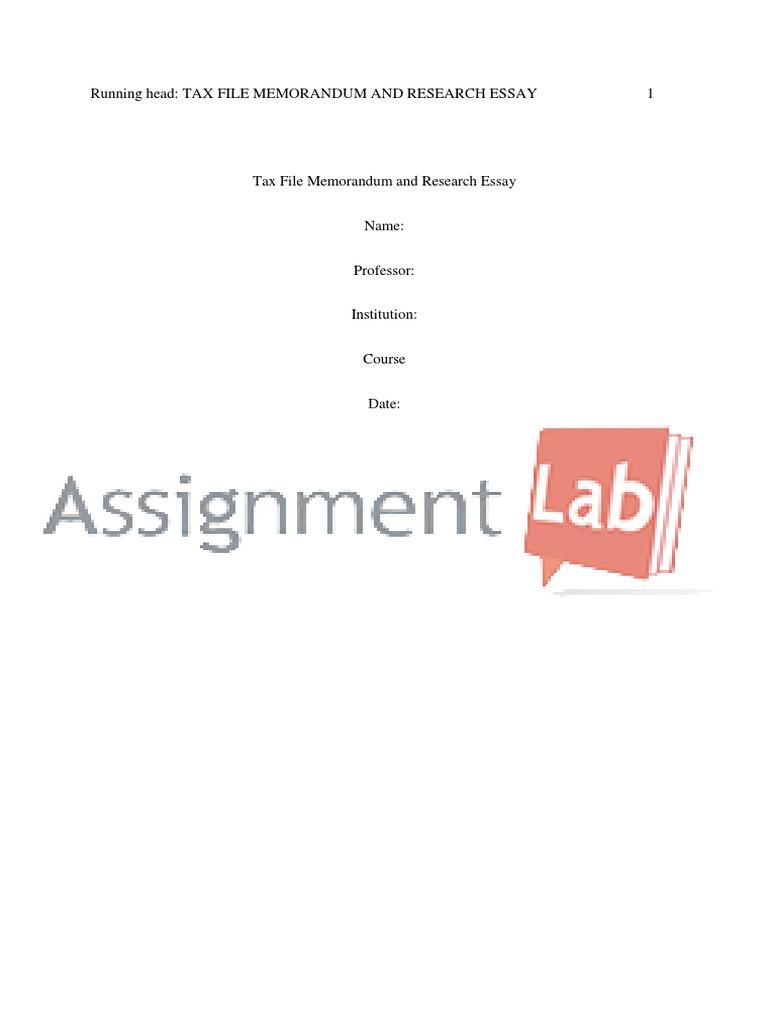 tax file memorandum