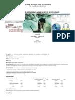 Syllabus for Accounting