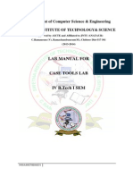 Case Tools Lab Manual IV CSE