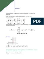 Algoritmo Del Producto de Matrices
