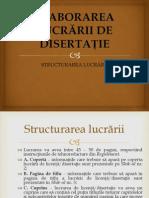Structura Lucrarii de Diseratie_Partea I