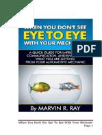 Eye to Eye With Your Mechanic