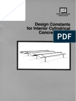 Design Constants for Interior Cylindrical Concrete Shells