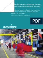 Accenture Gaining Competitive Advantage Through More Effective Direct Material Sourcing