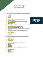 Windows 7 Sample QP