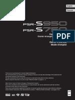 User manual Yamaha PSR 750 - 950