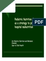 Mk Giz Slide Pediatric Nutrition Care as a Strategy to Prevent Hospital Malnutrition