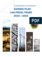 Department Interior Strategic Plan for FY 2014 2018 POSTED on WEBSITE 4
