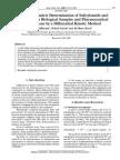 Spectrophotometric Determination of Salicylamide and Paracetamol