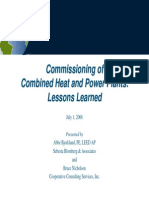 Commissioning of Combined Heat and Power Plants