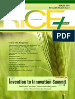 Rice Plus Magazine,March 2014 ,Vol 6 ,Issue 1