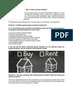 Buy v/s Rent a Home in Dubai?