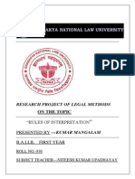 legal methods research project