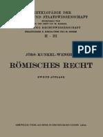 Paul Jörs Römisches Privatrecht  1935
